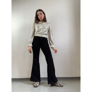 90s Lois Black Corduroy Trousers