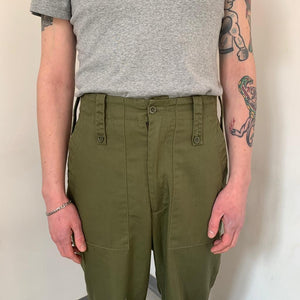 Vintage British army green trousers