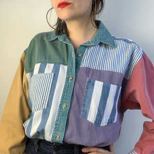 Vintage Striped Denim Shirt