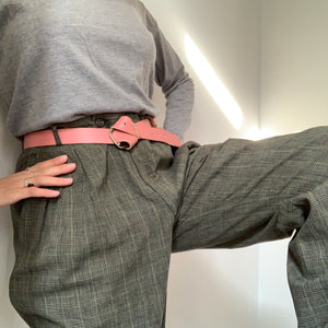 Vintage Unisex 80's Tailored Checkered Trousers