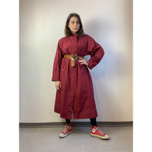 Load image into Gallery viewer, Vintage 80s Raspberry Red Trench Coat