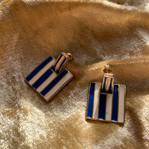 Vintage enamel earrings