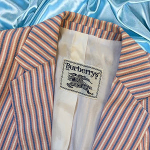 Vintage Burberry's Two Piece Candystripe Seersucker