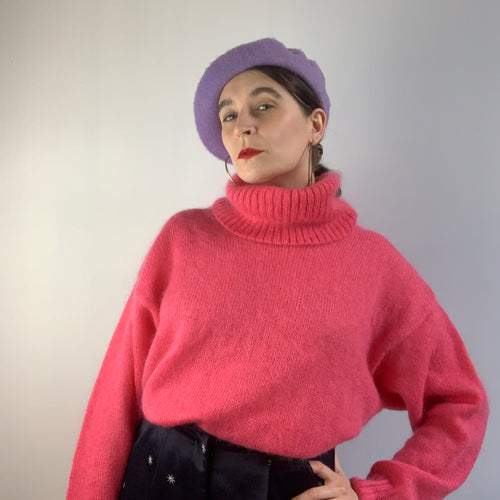 Vintage Mohair Roll Neck Jumper