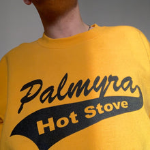 "Load image into Gallery viewer, Vintage 80s ""Palmyra Hot Stove"" yellow college sweater"