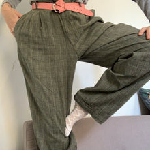 Load image into Gallery viewer, Vintage Unisex 80's Tailored Checkered Trousers