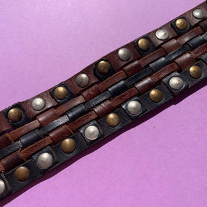 1980's Studded Leather Belt