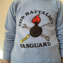 "Load image into Gallery viewer, Vintage US army ""12th Battalion Vanguard"" 70s sweater"