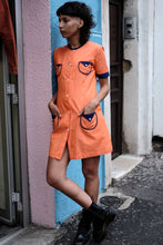Load image into Gallery viewer, Vintage Orange Mini Dress