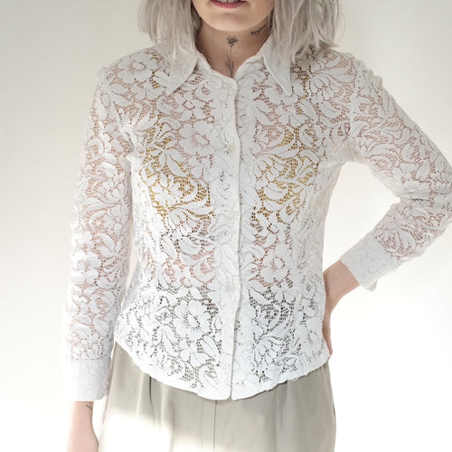 Vintage White Lace Shirt