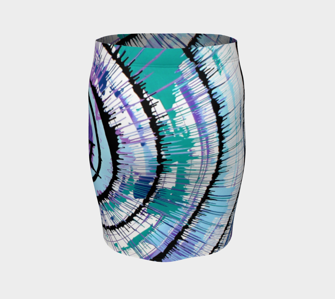 Spin Art Fitted Skirt