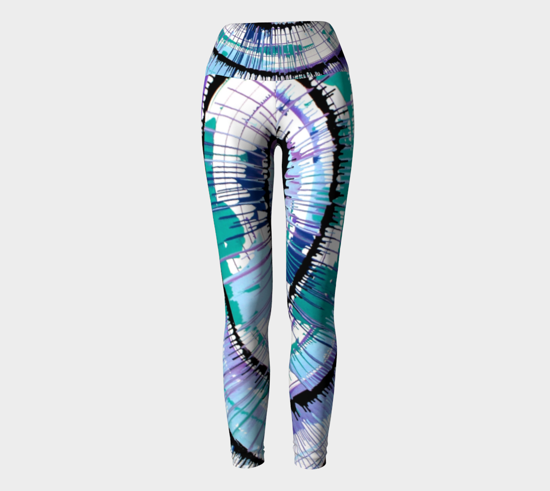 Cool Tones Spin Yoga Leggings