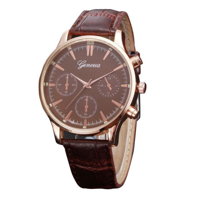 Business Style PU Leather Quartz Watch