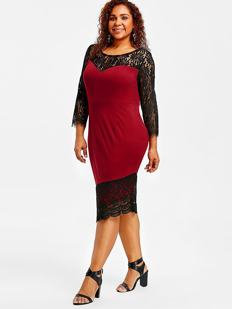 Office Style Lace Dress
