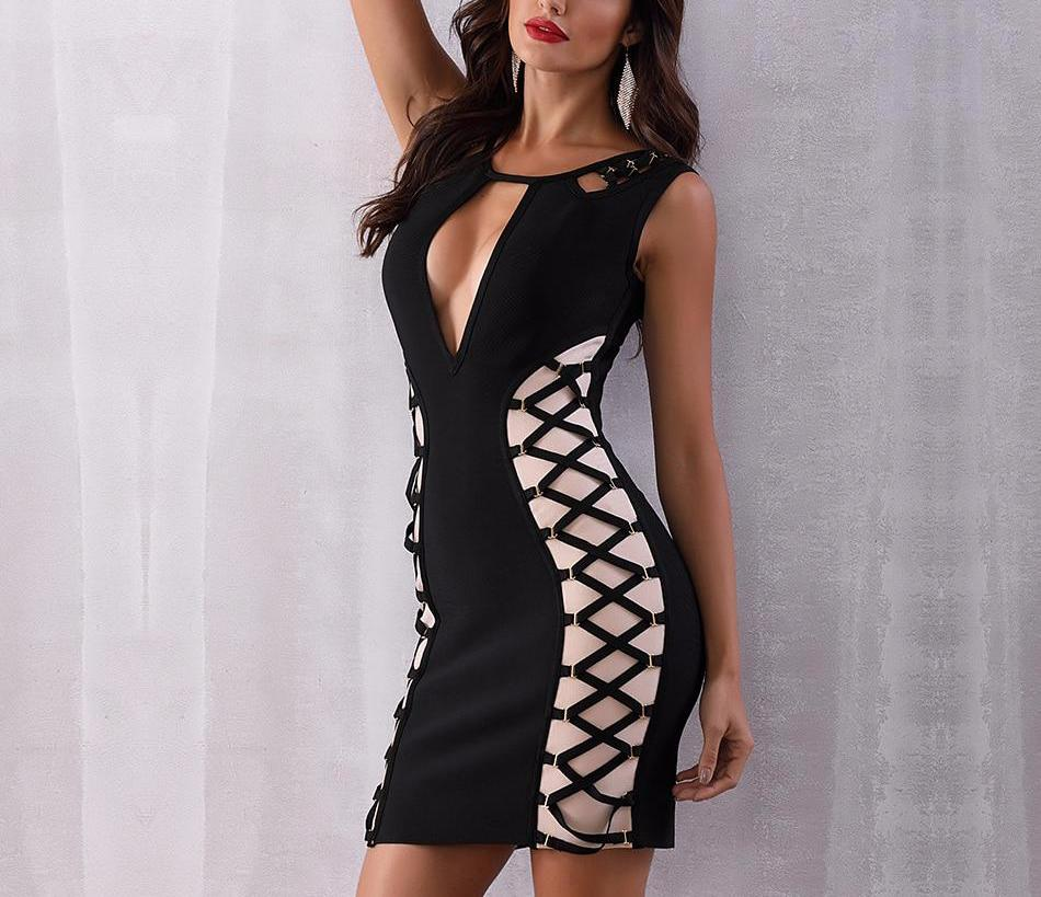 Criss Cross Hollow Dress