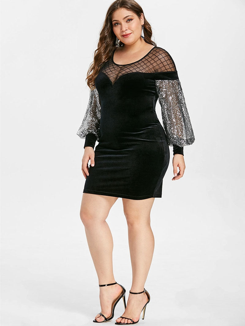 Mesh Bodycon Mini Dress
