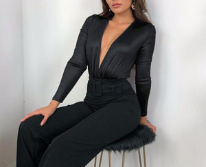 PU Leather Bodysuit