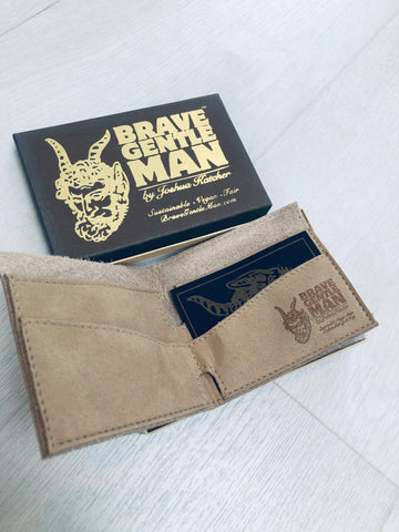 Hand-Cut Vegan Men's Wallet