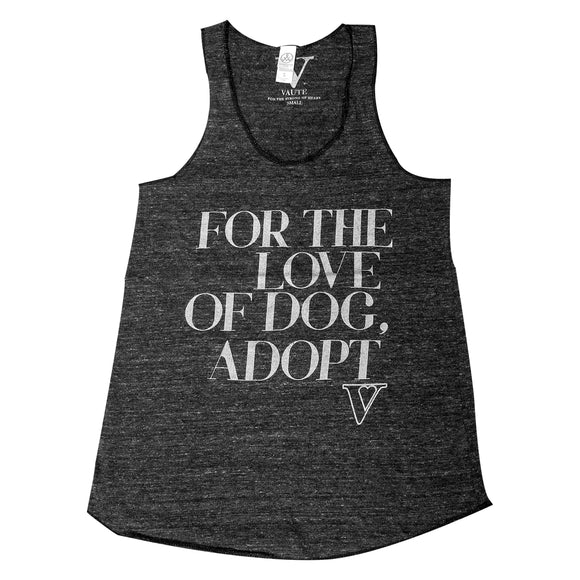 For the Love of Dog Adopt Eco Racerback