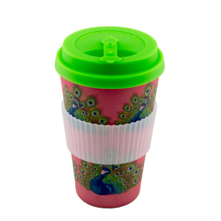 The Peacock Bamboo Reusable Cup