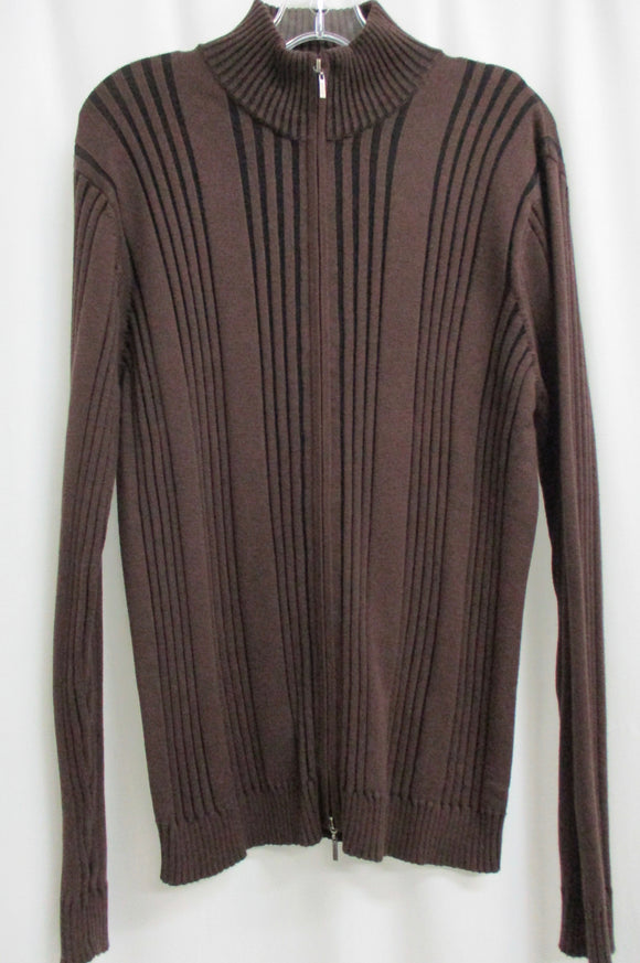 Kenneth Cole - Men's Brown Zip Up Sweater (Pre-owned)
