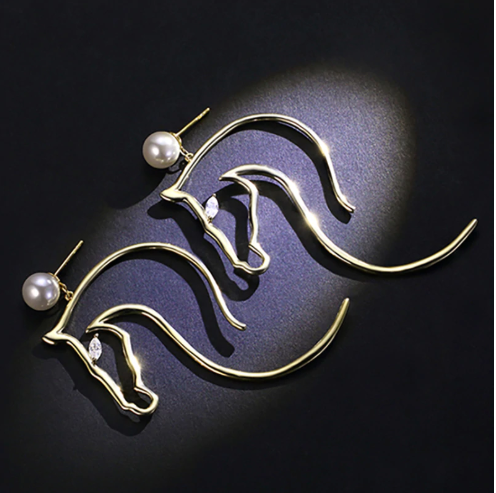 Horse Pearl Earrings