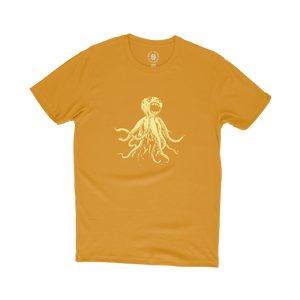 CLASSIC OCTOPUS TEE - ANTIQUE GOLD