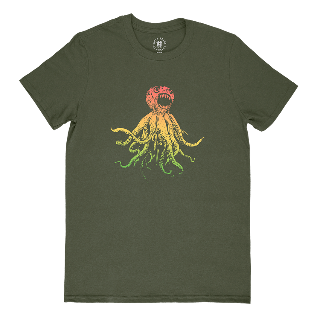 Classic Octopus Tee - Military Green