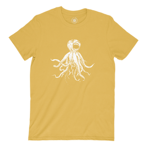 Classic Octopus Tee - Maize Yellow