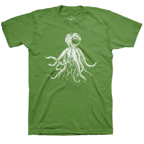 Classic Octopus Tee - Leaf Green