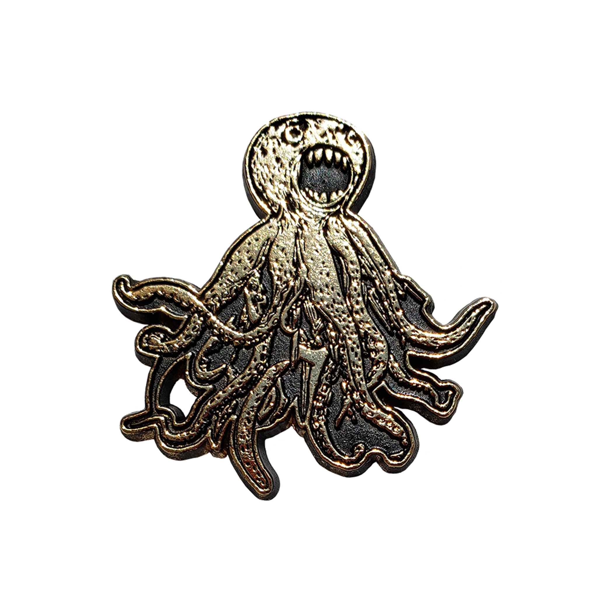 Octopus Logo Enamel Pin - Gold