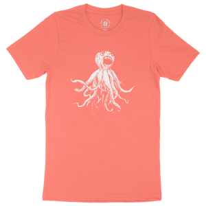 Classic Octopus Tee - Coral