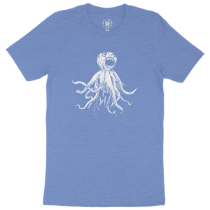 Classic Octopus Tee - Heather Columbia Blue