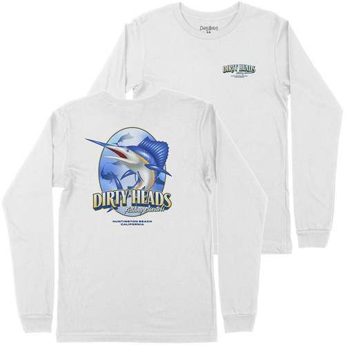 Fishing Charters L/S Tee (White)