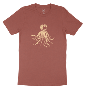 CLASSIC OCTOPUS TEE - HEATHER CLAY