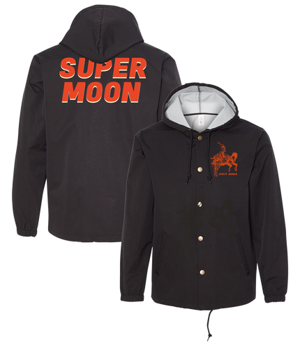 Super Moon Hooded Windbreaker (Black)