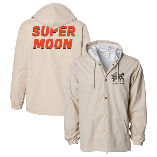 Super Moon Hooded Windbreaker (Khaki)