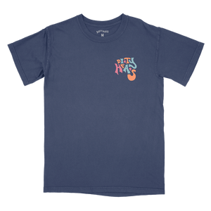 Pool Scene Tee - Navy Blue