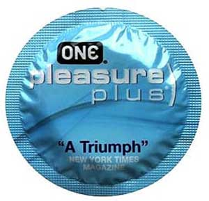 ONE Pleasure Plus Latex Condoms