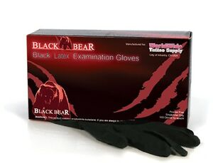 Latex Disposable Black Gloves