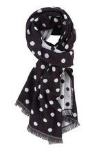 Load image into Gallery viewer, Betty Basics Solstice Spot Scarf BLACK/WHITE