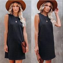 Load image into Gallery viewer, Love Lily The Label Logan Cotton Tank Dress BLACK