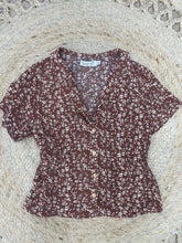 Load image into Gallery viewer, Sunny Girl Print Shirt RUST