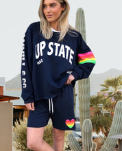 Load image into Gallery viewer, Hammill + Co Retro Track Short NAVY