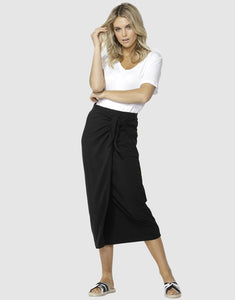 Betty Basics Lana Midi Skirt BLACK