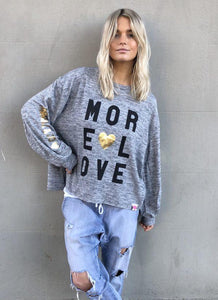 Hammill + Co More Love Sweat GREY MARLE