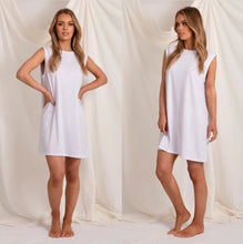 Load image into Gallery viewer, Love Lily The Label Logan Cotton Tank Dress WHITE