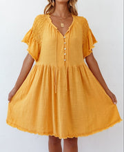 Load image into Gallery viewer, Sweet Pot Dress MUSTARD