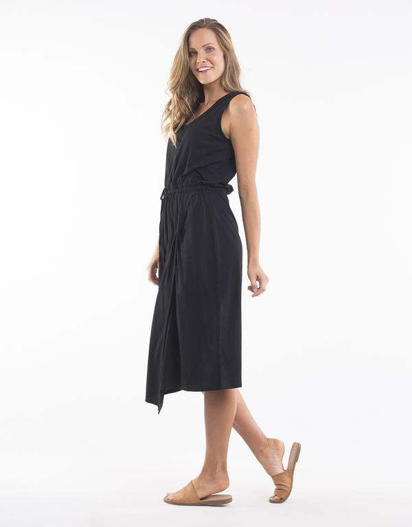 Elm Solsana Asymetric Dress BLACK