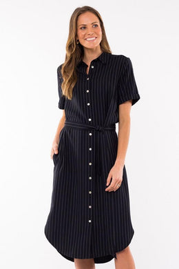 Elm Middleton Shirt Dress NAVY